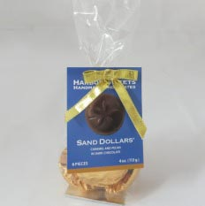 Sand Dollar Clear Bag - 6 pc