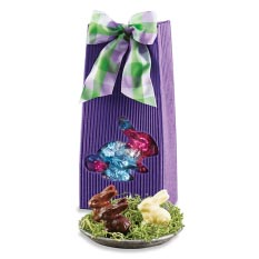 Purple Bunny Pouch with Chocolate Bunnies - 24 Pcs
